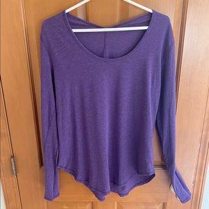 Lululemon Tops | Purple Long Sleeve Shirt